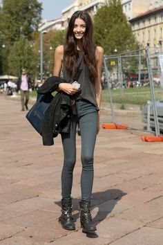 women's fashion and street style.  rocker chic.