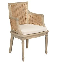 A French Directoire style bergere with a caned frame.