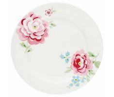 """GreenGate Frühstücksteller """"Plate Meryl"""" white"""