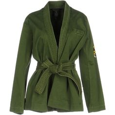 Marc By Marc Jacobs Jacket (540 CAD) ❤ liked on Polyvore featuring outerwear, jackets, military green, army green jackets, olive jacket, long sleeve jacket, marc by marc jacobs and marc by marc jacobs jacket