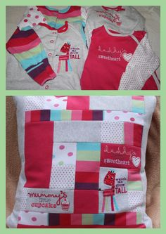Keepsake cushion - baby clothes, except I keep getting rid of mine! Can't stand them hanging around.