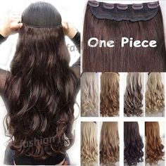 """18-28"""" 45-70CM 100% Real Natural Hair Extention 3/4 Full Head Clip in Hair Extensions Curly/Curly US UK Fast SHIP - Gifts Leads"""