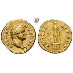 Römische Kaiserzeit, Titus, Caesar, Aureus 74, ss-vz: Titus, Caesar 69-79. Aureus 20 mm 74 Rom. Kopf r. mit Lorbeerkranz T CAESAR… #coins