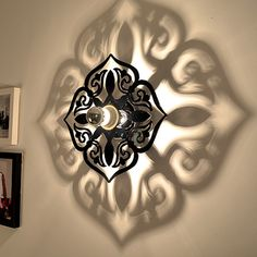 Spade Shadow Wall Lamp For Bedroom Modern Wall Sconce Black Acrylic Socket Home Decoration Wall Lighting Modern Castle, Pvc Pipe Crafts, Buddha Wall Art, Bamboo Lamp, Bathroom Wall Lights, Modern Wall Sconces, Floral Wall, Lamp Design, Decoration