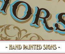 HAND PAINTED SIGNS - The Brilliant Sign Co.