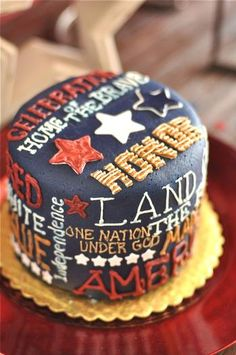 of July Cake- untraditional however superior Fourth Of July Cakes, 4th Of July Party, July 4th, Shawarma, Military Cake, Military Army, Happy Birthday America, Retirement Cakes, Holiday Cakes