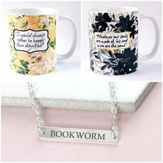 With Love for Books: Jane Eyre & Wuthering Heights Quote Mugs & Bookwor...