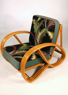 Ohhh yes please, barkcloth and rattan!