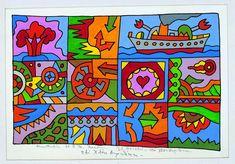 Αλέξης Ακριθάκης: «Ο καλλιτέχνης πρέπει να είναι κλέφτης - είπαμε κλέφτης, όχι απατεώνας» Kids Rugs, Culture, Abstract, Toys, Paper Boats, Color, Art, Pintura, Summary