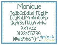 Monique Embroidery Font