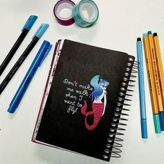 """Dont make me walk when I want  to fly"" . #agenda #planner #vidadeestudante #mermaid #blue #capricho #stabilo #naped #scotch #pluestationery #mesadeestudos #vidadeconcurseira"