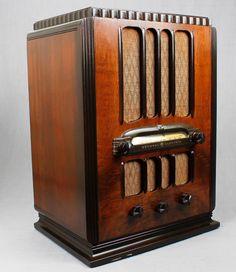 1935 General Electric A 83 Wood Tombstone Vacuum Tube Radio L K   eBay