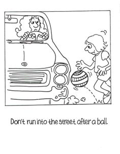 Family safety coloring pages and activity sheets: Includes