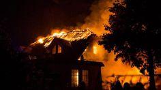 Fabian Henke Der Dachstuhl des Landgasthofes in Neuendorf brannte ...