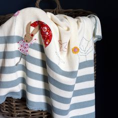 Are you interested in our Personalised Rabbit Cot Blanket? With our Cotton Knitted Baby Blanket you need look no further.