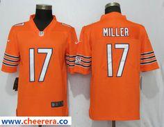12b49d5b82f Men's Nike Chicago Bears 17 Anthony Miller Orange Vapor Untouchable Limited  Jersey Nfl Chicago Bears,