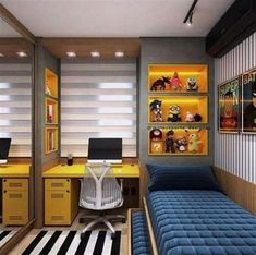 Boy's bedroom ideas and decor inspiration; from kids to teens Are you planning to decorate your boy's bedroom? If that is the case, you will need Boy Bedroom Ideas to get started. in bedroom boys Cool and Stylish Boys Bedroom Ideas, You Must Watch ! Small Bedroom Designs, Small Room Bedroom, Trendy Bedroom, Small Rooms, Design Bedroom, Dream Bedroom, Small Bedroom Interior, Bedroom 2018, Comfy Bedroom