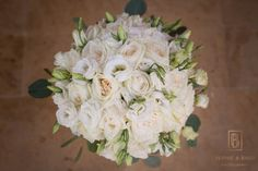 Soft and pretty white wedding bouquet