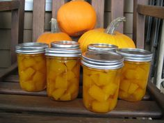 Erin's family recipe for pickled pumpkin.