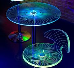 Spyra LED Bar Furniture - Tables & Stools  Lights up the Party, and as accent pieces, can be #tiki