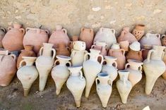 A gallery of ancient Egyptian pottery and ceramics, demonstrating the craftsmanship of these ancient potters.