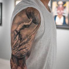 Sisyphus otra vista de este brazo #lastritestattoo #darwinenriquez #tattoo Tattoo shared by darwinenriquez