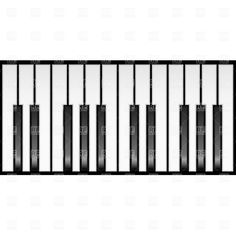piano keyboard clip art keyboard clip art pinterest clip art rh pinterest com full piano keyboard clipart
