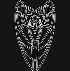 blue black gray silver knotwork tattoos - Google Search