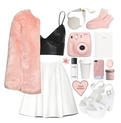 """""""Teen Queen"""" by biancac1d ❤ liked on Polyvore featuring Bardot, Rochas, Forever 21, Topshop, H&M, women's clothing, women's fashion, women, female and woman"""