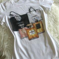 Chanel Bag and Parfum No.5 Custom Tshirt