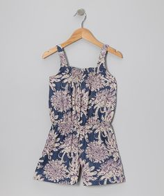 Take a look at this Blue Lilly Romper - Toddler & Girls by textures on #zulily today!
