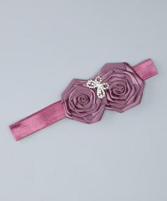 Take a look at this Purple Lace Rosette Headband by The Bow Band on #zulily today!