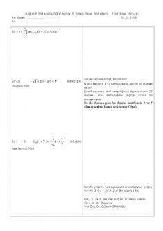 Genel Matematik Final Soruları