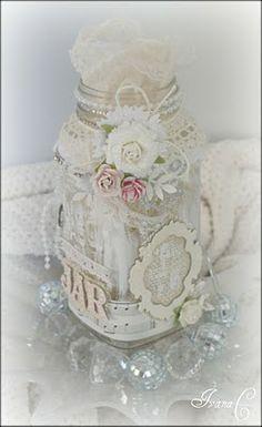 ~An Inspired Jar~ (pseudo tut)... http://papergirlcrafts.blogspot.com/2010_09_01_archive.html