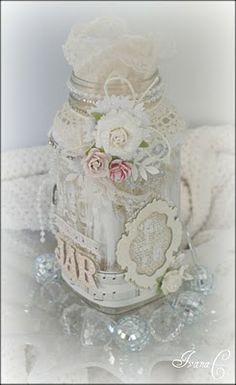 shabby jar..cute