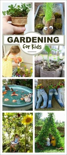 50+ awesome gardening activities for kids- so many fun ideas!  I can't wait to try the sandbox garden!