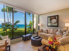 Luxury awaits in this beautiful, remodeled, oceanfront condo. Located in the popular Pu'u Poa complex, this spacious complex has dramatic ocean views! Kauai Vacation Rentals, Kauai Hawaii, Ground Floor, Swimming Pools, Condo, Heated Pool, Patio, Ocean Views, Interior Design