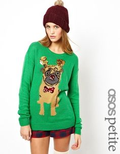 ASOS Christmas Sweater with Pug