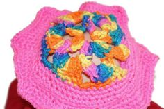 Crocheted Baby Girl Spring Hat   Bonnet  Multicolor by lanacooper,