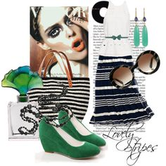 """Lovely Stripes"" by moodycat on Polyvore"