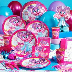Abby Cadabby Party Supplies. Pairs well with Elmo and Sesame Street to include items for all genders.