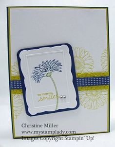 Stampin' Up!  Reason To Smile  Christine Miller