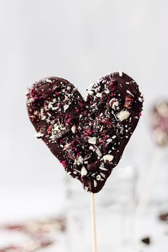 Valentines Chocolate Heart Lollipops
