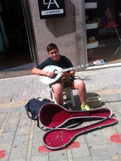 Give a quarter to this cute boy in nicosia's old town