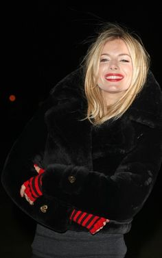 love the blonde and red lipstick.... all my style!