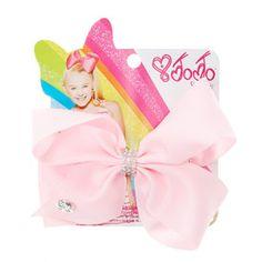 JoJo Siwa Small Rhinestone Keeper Pink Hair Bow