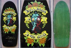 Bulldog Skates BDS Gas Mask Car Paint Collectible Skateboard Deck