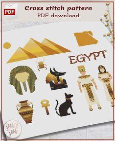 Egypt cross stitch pattern Egypt cross-stitch Egypt Xstitch