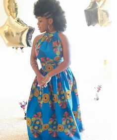 This fierce babe who rocked a wax print look. | 18 Beautiful African Prom Dresses That'll Give You Goals