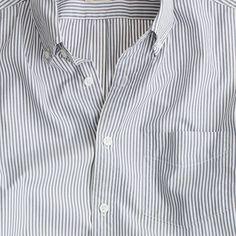 Secret Wash short-sleeve shirt in slate stripe
